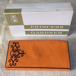 Vintage IOB Princess Gardner Leather Clutch Wallet